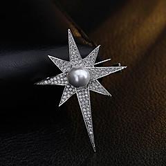 Kadın Diğer Broşlar İmitasyon İnci Yapay Elmas Eşsiz Tasarım Euramerican Kişiselleştirilmiş Altın Kaplama alaşım Geometric Shape Mücevher