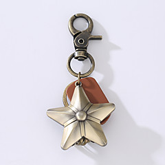 Nowy pierścień stopu cowhide z klockiem ze stali szlachetnej z pięcioma gwiazdkami