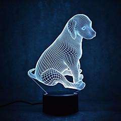 Jul hund skildpadder touch dæmpning 3d ledet nat lys 7colorful dekoration atmosfære lampe nyhed belysning jul lys