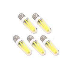 4W E14 G9 LED Filament Bulbs T 300 lm Warm White Cool White Dimmable AC 220-240 V 5 pcs