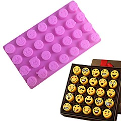 1Pcs  28 Grid Funny Emoji  Expression Mold Cute Silicone Cake Molds For Cake Chocolates Candy Ice Baking Tools