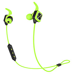Bluetooth Earphone Wireless Sports Headphones Bass Stereo Earbuds With Ear Hook Mic Voice Prompt Handsfree Noise Reduction Sweatproof for Phone