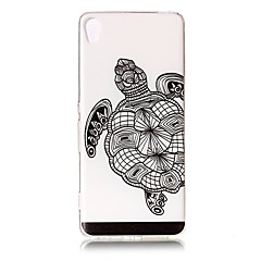 For Etuier Transparent Præget Mønster Bagcover Etui Dyr Blødt TPU for SonySony Xperia XZ Premium Sony Xperia XA Sony Xperia XA1 Sony