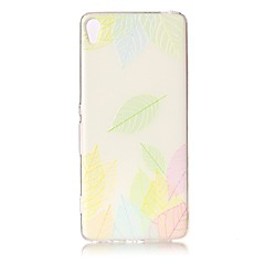 For Sony Xperia XZ Premium XA Case Cover Leaves Pattern Painted Relief High Penetration TPU Material Phone Case XA1 E5