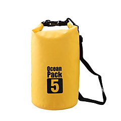 5 L Αδιάβροχη τσάντα Ξηρός Αδιάβροχη σανίδα Αδιάβροχη για Αναρρίχηση Κολύμβηση Παραλία Κατασκήνωση & Πεζοπορία