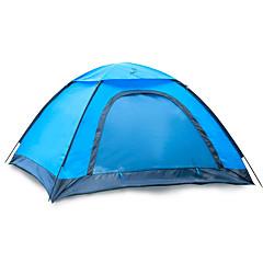 2 사람 텐트 싱글 접이식 텐트 원 룸 캠핑 텐트 1000-1500 mm 유리 섬유 옥스퍼드 방수 휴대용-하이킹 캠핑-블루