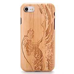 For Etuier Præget Mønster Bagcover Etui Imiteret træ Tegneserie Hårdt Træ for AppleiPhone 7 Plus iPhone 7 iPhone 6s Plus iPhone 6 Plus