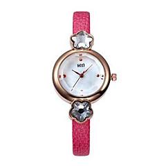 Dames Modieus horloge Kwarts Leer Band Zwart Wit Rood Bruin