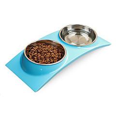 Kot Pies Miski i butelki wody Zwierzęta domowe Miski i Żywienie Wodoodporny Green Niebieski Różowy