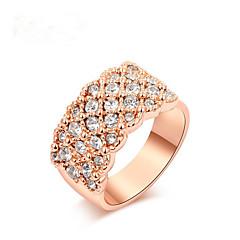 Anéis Fashion Casamento Jóias Liga Feminino Anéis Statement 1pç,Tamanho Único Dourado