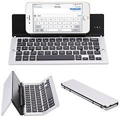 f18 hordozható ultravékony összecsukható alumínium Bluetooth 3.0 vezeték nélküli billentyűzet mobiltelefon tablet pc