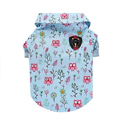 Cat Dog Shirt / T-Shirt Vest Dog Clothes Summer Animal Cute Fashion Casual/Daily Owl Blue