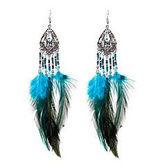 lureme®  Drop Earrings Jewelry Cute Style Euramerican Handmade Stretch Luxury Statement Jewelry Feather Wings / Feather Jewelry ForHalloween