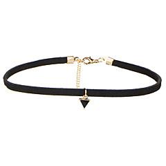 Damskie Naszyjniki choker Biżuteria Geometric Shape Aksamit Stop Klasyczny Wiszący Multi-sposoby Wear biżuteria kostiumowa Biżuteria Na