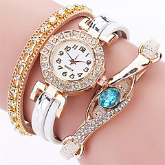 New Brand Blue Eye Gemstone Watches Casual Women Bracelet Watch Female Multilayer Full Crystal Leather Wrist Watches