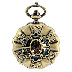 Ανδρικά Διάφανο Ρολόι Ρολόι Τσέπης μηχανικό ρολόι Αυτόματο κούρδισμα κράμα Μπάντα Μπρονζέ