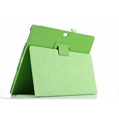 Voor case cover met standaard flip full body case solide kleur zacht pu leer voor microsoft surface3 10.8 ''