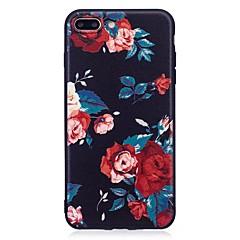 För iphone 7 plus 6 plus 6s se 5s 5 fallskydd blommönster lättnad bakomslag mjuk tpu