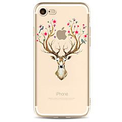 Voor apple iphone 7 7 plus 6s 6 plus hoesje herten patroon geschilderd hoge penetratie tpu materiaal zachte case telefoon hoesje