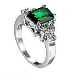 Męski pierścionek szmaragdowy niepowtarzalny projekt euramerican moda cyrkon szmaragdowa biżuteria biżuteria 147 ślub rocznica specjalnej