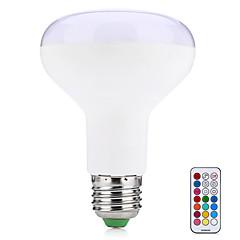 10W LED 스마트 전구 R80 38 SMD 5050 800 lm 따뜻한 화이트 RGB 리모컨 작동 장식 V 1개