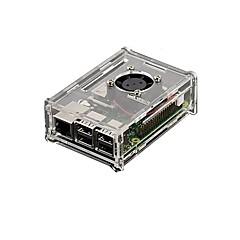 διαφανές ακρυλικό κέλυφος μπορεί να τοποθετηθεί ανεμιστήρα και τρία πτερύγια Raspberry Pi Raspberry Pi 2β / 1β +