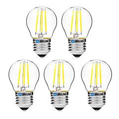 4W LED-gloeilampen G45 4 COB 300 lm Warm wit Wit Dimbaar V 5 stuks