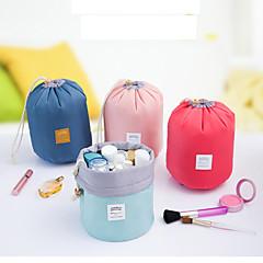 1pc Kosmetiktasche Kosmetik Tasche Organisation für das Packen Wasserdicht Klappbar Transportabel für Damen Kulturtasche Nylon-Rot Blau
