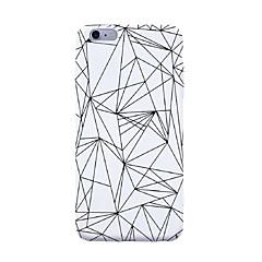 Til iphone 7 plus 7 tilfælde dækning mønster bagcover tilfælde geometrisk mønster fliser linjer / bølger soft tpu til iphone 6s plus 6s 6