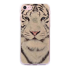 För apple iphone 7 7plus case cove vit tiger mönster flash pulver imd process tpu material telefonväska iphone 6 6s plus se 5s 5