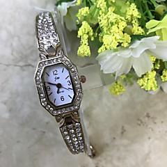 Женские Часы-браслет Имитационная Четырехугольник Часы Китайский Кварцевый / Имитация Алмазный сплав Группа Повседневная Розовое золото