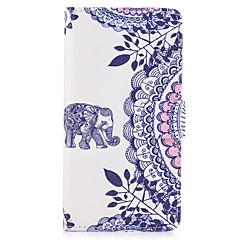 Etui til samsung galaxy note 5 tilfælde dækker elefant mønster pu læder tasker