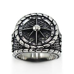 Kadın's Erkek Yüzük Mücevher Logo Stili Gotik Paslanmaz Çelik Circle Shape Mücevher Uyumluluk Özel Anlar Parti/Gece Günlük Şükran Günü