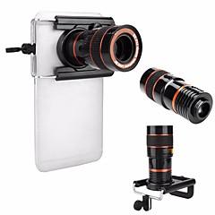 عالمي هد 8x تعديل التركيز البصرية تلسكوب الهاتف المحمول عدسة الكاميرا مع مقطع مناسبة ل فون و الروبوت الهواتف