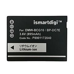 ismartdigi bcg10 3.6V 895mah kamera akkumulátor Panasonic DMC zs20 ZS1 zR3 ZS3 ZS5 ZS7 gk
