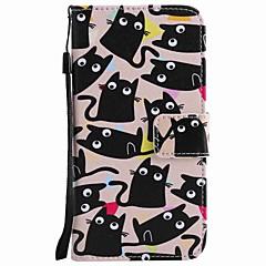 Til huawei p10 plus p10 lite case cover kortholder pung med stativ flip mønster fuld krop kasse kat hårdt pu læder p10 p8 lite 2017 p9