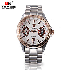 Tevise Men's Women's Couple's Sport Watch Skeleton Watch Fashion Watch Mechanical WatchCalendar Water Resistant / Water Proof Luminous