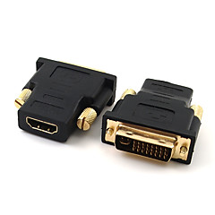 DVI Adapter, DVI to HDMI 1.4 Adapter Hane - hona 720p Förgyllt koppar