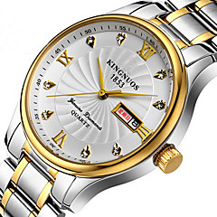 KINGNUOS Hombre Reloj de Moda Reloj creativo único Reloj Casual Reloj de Pulsera Cuarzo Calendario Acero Inoxidable BandaCreativo De Lujo