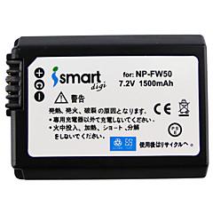 Ismartdigi fw50 7.2v μπαταρία φωτογραφικής μηχανής 1500mah για sony a7 a7r a7rm2 a6300 a5100 a6000