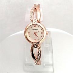 Women's Ladies' Wrist watch Bracelet Watch Quartz Rose Gold Plated Alloy Band Sparkle Cool Rose Gold
