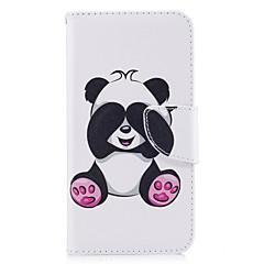 ja huawei p10-P9 lite suojus Panda kuvio pu materiaali kortti stentin lompakko puhelimen tapauksessa Galaxy 6x y5ii P8 lite (2017)