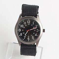 Heren Modieus horloge Japans Japanse quartz / Nylon Band Vrijetijdsschoenen Zwart Zilver