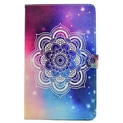 Til Samsung Galaxy Tab t580 t560 mandala malet mønster pu læder materiale flad beskyttelses cover til t550 t530 t350 t280