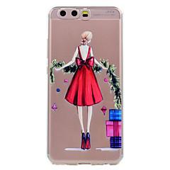 Για το huawei p10 p10 lite τηλέφωνο περίπτωση κόκκινη φούστα κορίτσι μοτίβο μαλακό tpu υλικό τηλέφωνο υπόθεση p10 plus p8 lite (2017)