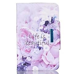 Til Samsung Galaxy Tab en 9,7 fan e 9.6 cover cover blomstermønster pu hud materiale samsung flad beskyttende shell tab en 8,0 tab 3 lite