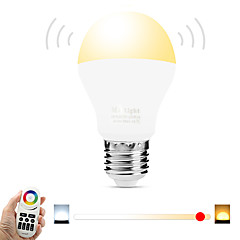 E27 6W 2.4Ghz White--Warm White Stepless Dimming Wireless Remote Control Dimming Mobile Phone  Wifi Control Dimming Intelligent Bulb (AC85-265V)