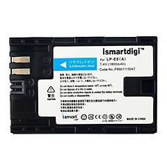 Ismartdigi lpe6 7.4v μπαταρία κάμερας 1800mah για canon 5ds 5d2 5d3 5d4 6d 80d