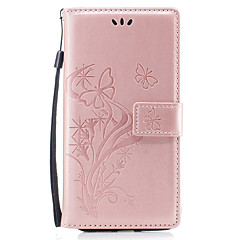 kotelo iPhone 7 7 plus suojus perhosen rakkauden kukka kohokuviointi PU materiaali kortti stentti lompakko puhelin tapauksessa 6s 6 plus