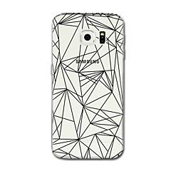 Til samsung galaxy s7 s8 case cover gennemsigtigt mønster bagcover case linjer / bølger geometrisk mønster soft tpu til Samsung Galaxy S5